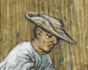 Peasant in a straw hat, c. 1485-1490