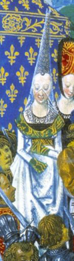 Lady in henin and vail, c. 1420