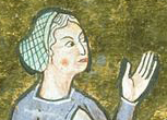Nurse wearing a hairnet or snood c. 1285