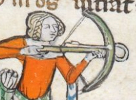 Lady hunting with a crossbow, 1300-1340