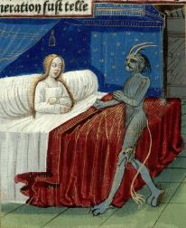 Lady in her shift, 1400's