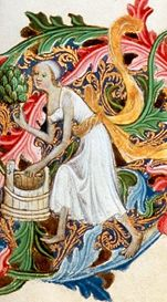Bath assistent in shift, c. 1400