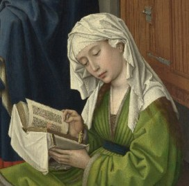 The Magdalen Reading with a vail over loose hair. before 1438