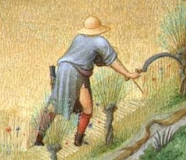 Peasant in straw hat, 1416