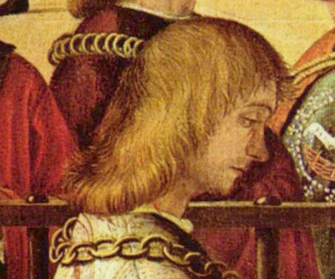 Young man with loose hair. Notice how it is cute, c. 1495