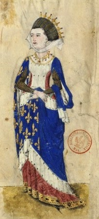 Marguerite of Provence, Queen of France, lived 1250 (image 1400's)