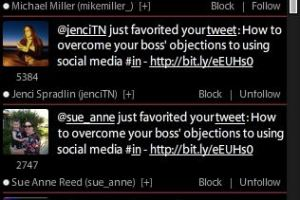 Use TweetDeck to track who favorites your tweets