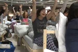 IKEA Fans Ask For a Sleepover So the Company Gives Them One