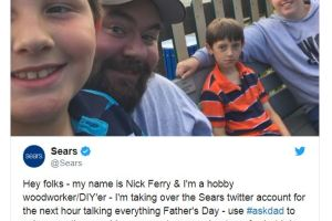 Sears, Fathers Day, Twitter