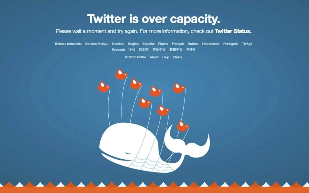 Twitter har stora problem, globalt