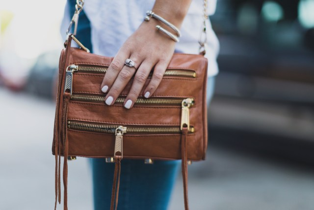 basic essentials for fall | www.mackenziekendall.com | brown rebecca minkoff five zip crossbody