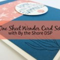 One Sheet Wonder Card Set with By the Shore DSP – Create 12 cards using 1 sheet of paper from the By the Shore Designer Series Paper pack. | #mackenziemakes #makewithme #stampinup | www.mackenziemakes.com