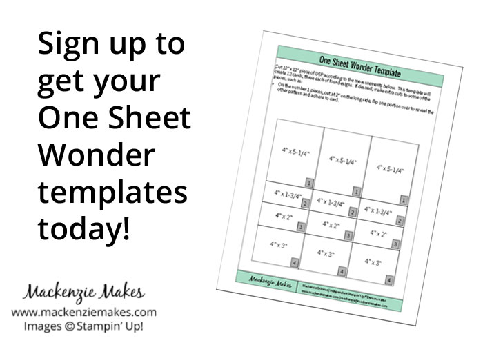 Sign up to get your One Sheet Wonder templates today!   www.mackenziemakes.com