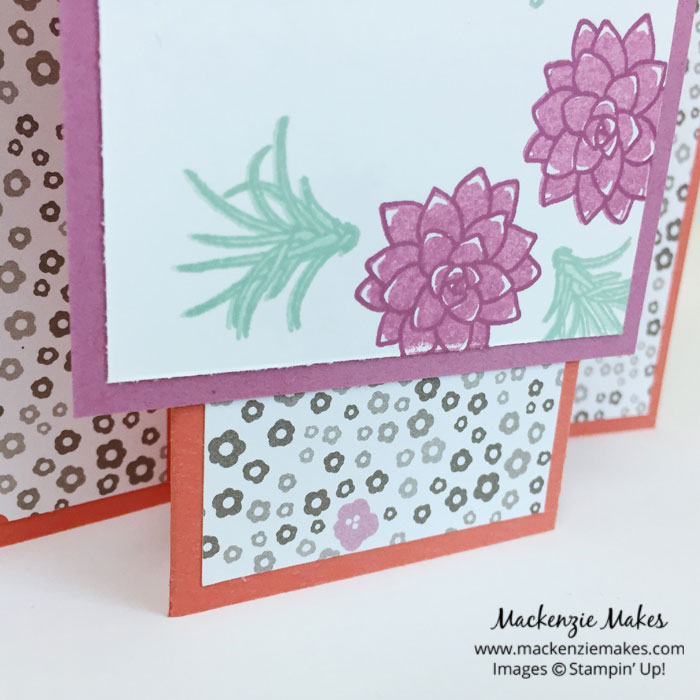Stamp of the Month Club - Oh So Succulent – The April 2017 online card class will feature the Oh So Succulent stamp set. Sign up by April 15 to join in on this class. Click through for more details. | #mackenziemakes #makewithme #stampinup | www.mackenziemakes.com