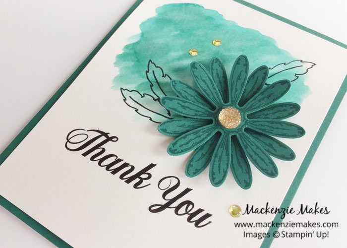Daisy Delight In Color Cards – Check out the new 2017-2019 In Colors with this set of cards featuring the Daisy Delight bundle. | #mackenziemakes #makewithme #stampinup | www.mackenziemakes.com