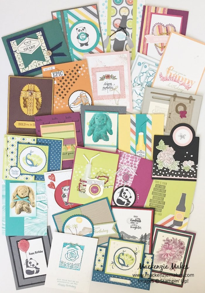 Bubble Over Swap Cards – Check out the cards I made for our team swap featuring the Bubble Over stamp set from Stampin' Up! Click through to learn how to make it. | #mackenziemakes #makewithme #stampinup | www.mackenziemakes.com