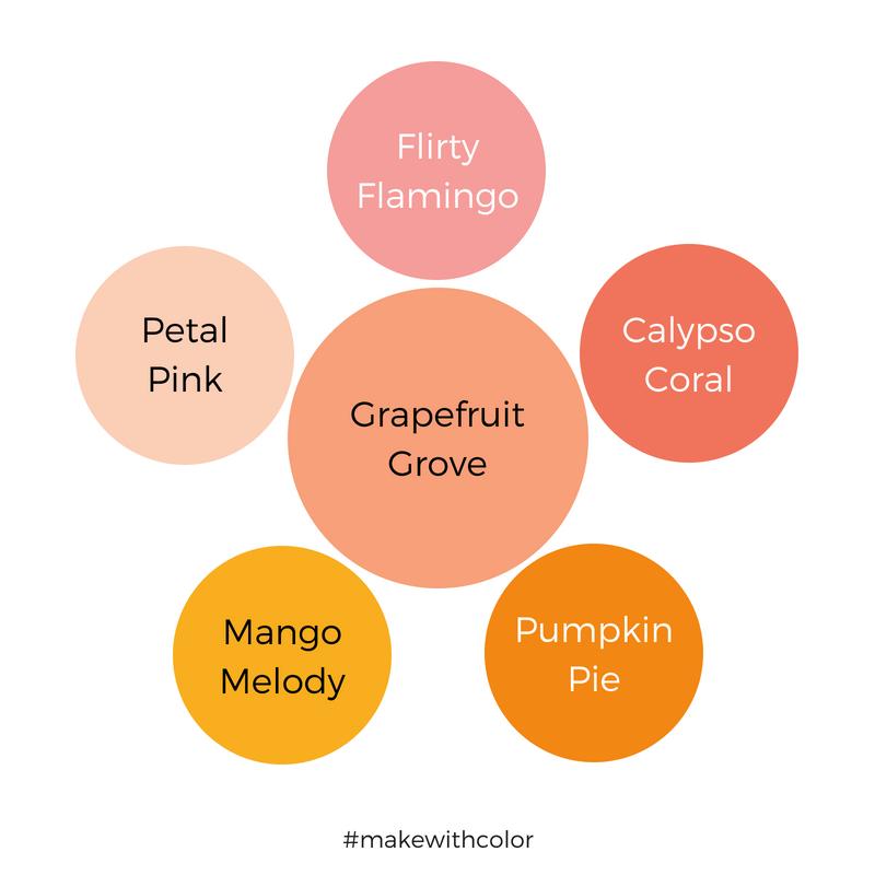 Color Comparison Grapefruit Grove
