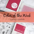 Color of the Week - Lovely Lipstick – Click through to see this week's Color of the Week - Lovely Lipstick. Find color combinations and comparisons, and a list of products containing this color. | #mackenziemakes #makewithcolor #stampinup | www.mackenziemakes.com