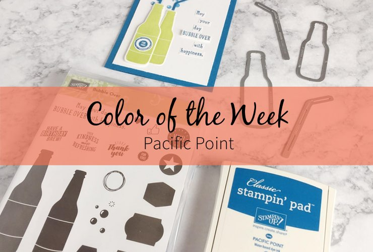 Color of the Week - Pacific Point – Click through to see this week's Color of the Week - Pacific Point. Find color combinations and comparisons, and a list of products containing this color. | #mackenziemakes #makewithcolor #stampinup | www.mackenziemakes.com