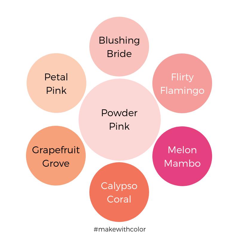 Color Comparison Powder Pink