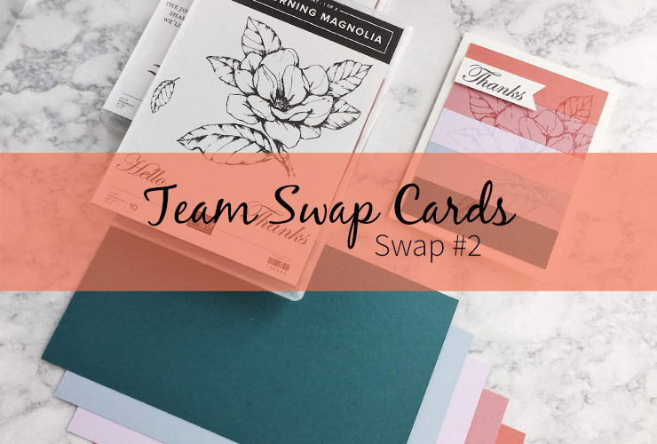 Team Swap Cards - Swap #2 – Click through to see how to make this fun card featuring the new 2019-2021 In Colors from Stampin' Up! | #mackenziemakes #stampinup | www.mackenziemakes.com