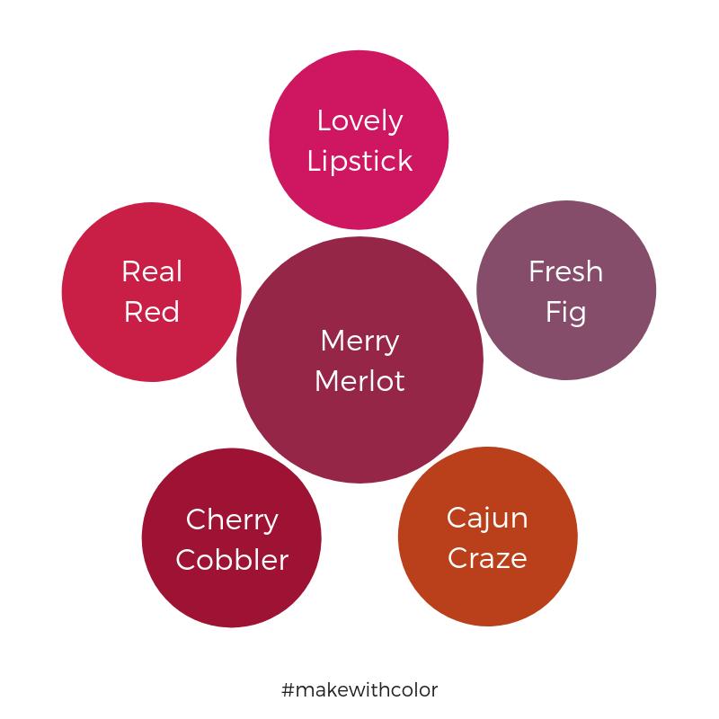 Color Comparison Merry Merlot