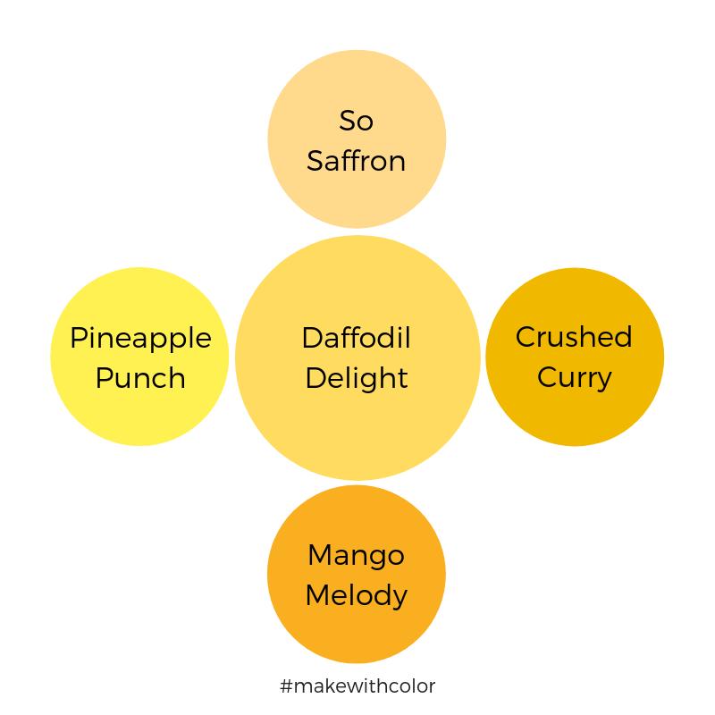 Color Comparison Daffodil Delight