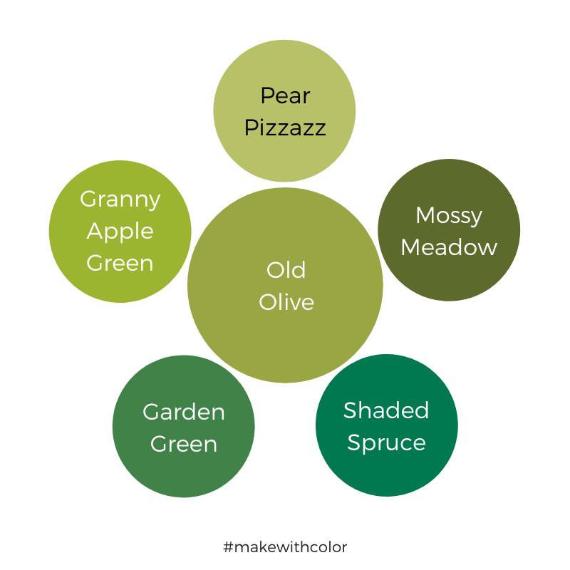 Color Comparison Old Olive