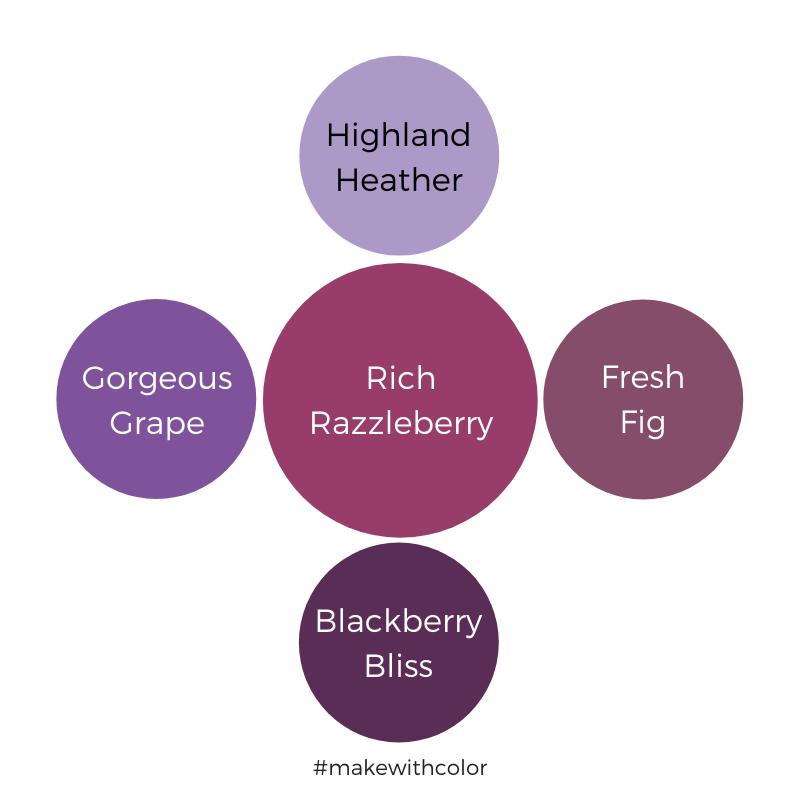 Color Comparison Rich Razzleberry