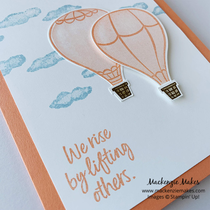Retiring 2018-2020 In Colors – Click through for a final look at the 2018-2020 In Colors: Lovely Lipstick, Grapefruit Grove, Pineapple Punch, Call Me Clover, and Blueberry Bushel. Each card is stamped with the same layout using the Above the Clouds stamp set.   #mackenziemakes #stampinup   www.mackenziemakes.com