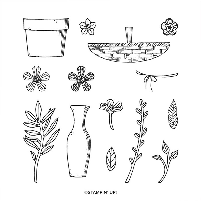 Basket of Blooms Stamp Set1