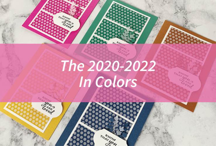 The 2020-2022 In Colors – Click through for a look at the new 2020-2022 In Colors: Magenta Madness, Bumblebee, Just Jade, Misty Moonlight, and Cinnamon Cider. Each card follows the same layout using the 2020-2022 In Color Designer Series Paper. | #mackenziemakes #stampinup | www.mackenziemakes.com