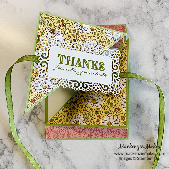 How to Make a Triangle Tri Fold Card – Click through to learn how to make this fun fold card. | #mackenziemakes #stampinup | www.mackenziemakes.com