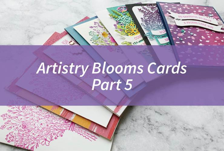 Artistry Blooms Cards Part 5 – Click through to learn how to make this card featuring the Artistry Blooms Designer Series Paper from the Artistry Blooms Suite from Stampin' Up! | #mackenziemakes #stampinup | www.mackenziemakes.com