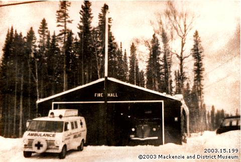 Mackenzie's first fire hall, 1967