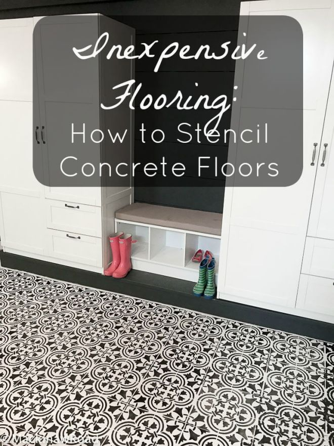 Inexpensive Flooring How to Stencil Concrete Floors
