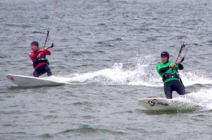 Course racing kiteboarding style