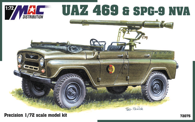 Russian-built UAZ 469 is one of the few, almost-successful vehicles to come out of Russia. This model cover illustrates it in military mode, familiar to NATO forces opposing these vehicles in Bosnia and Eastern Europe. American voters worry that Trump will work to bring these vehicles to the U.S., either as competition to U.S. car makers, or in some enforcement action by his friend Vladimir Putin. Details to be found in Trump's tax returns, which fittingly are 469 days overdue today. Mac Distribution image