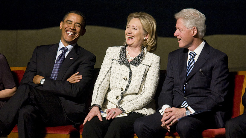 Image result for obama clintons