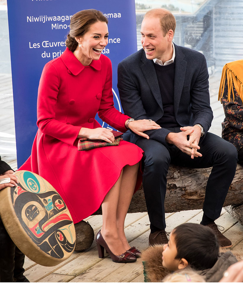 Catherine, Duchess of Cambridge and Prince William, Duke of Cambridge in Whitehorse, Yukon. (Ben Nelms)
