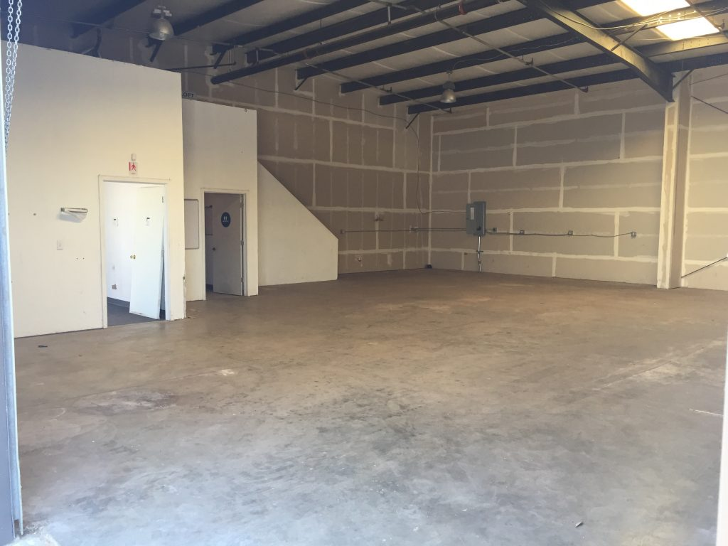 Open warehouse area at 729 Fulton Shipyard
