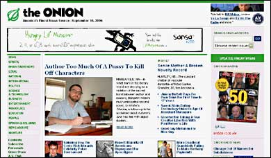 The Onion front