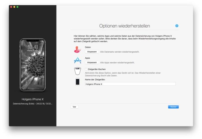 iMazing iPhone Wiederherstellung