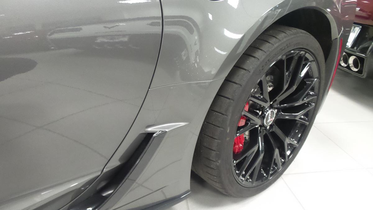 Driver side rear quarter panel on a C7 Z06 Corvette