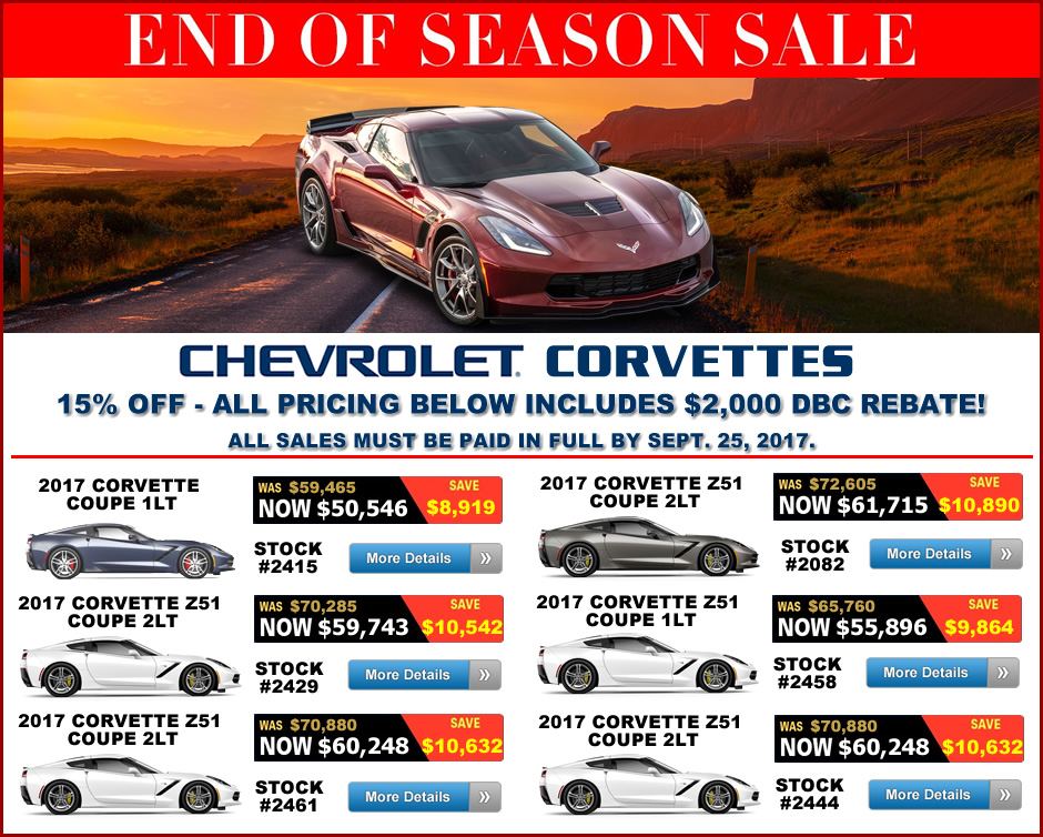 MacMulkin Chevrolet Corvette Discounts