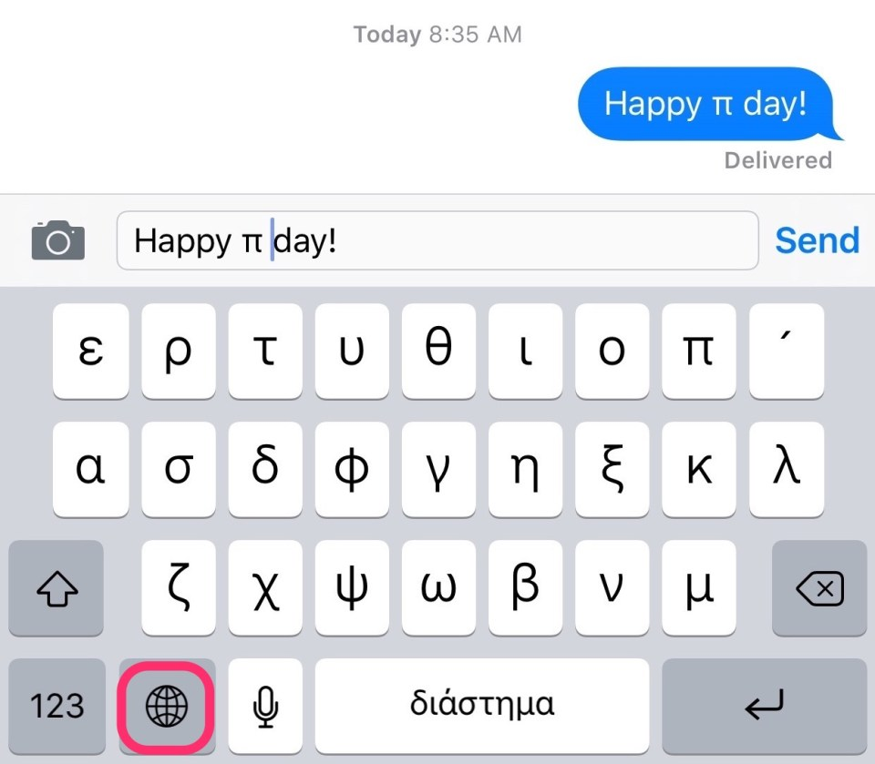 how to type greek letters