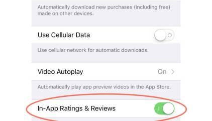 Here's How to Turn Off iOS In-app Review Requests - The Mac Observer