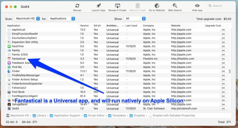 Applications like Fantastical are universal and run natively on Intel and Apple Silicon Macs