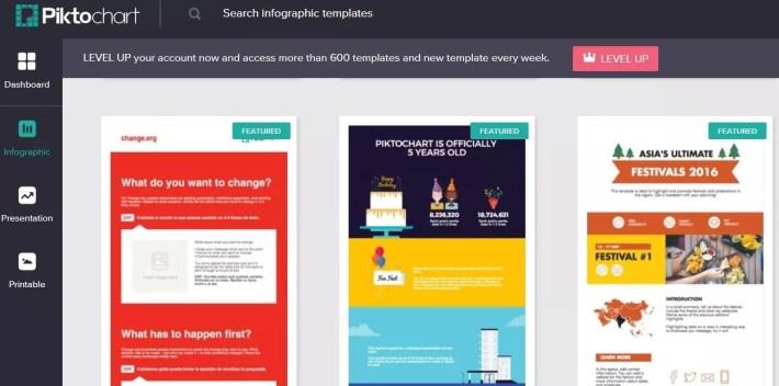 Créez vos infographies avec Piktochart