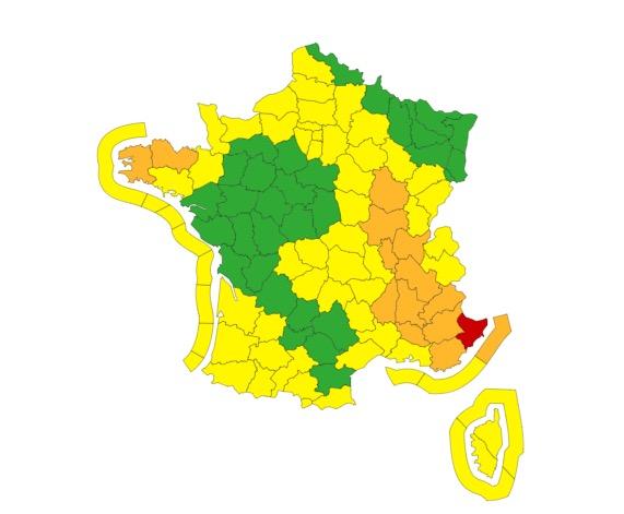 vigilance jaune pluie inondation
